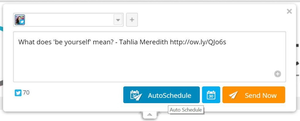 Hootsuite autoschedule instead of Buffer suggestions