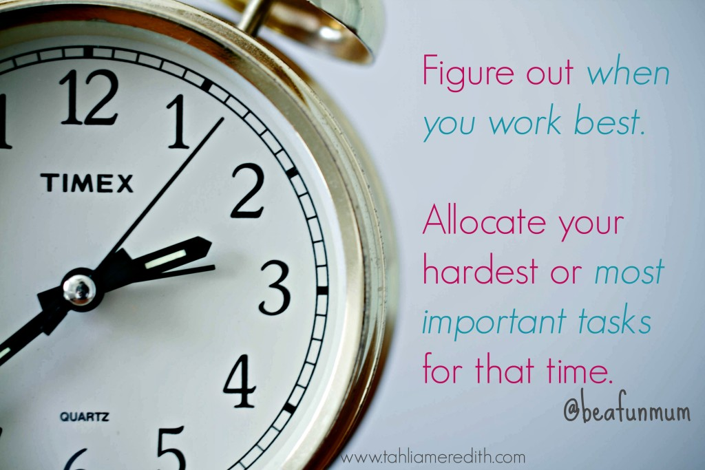 Blogging tip - Figure out when you work best