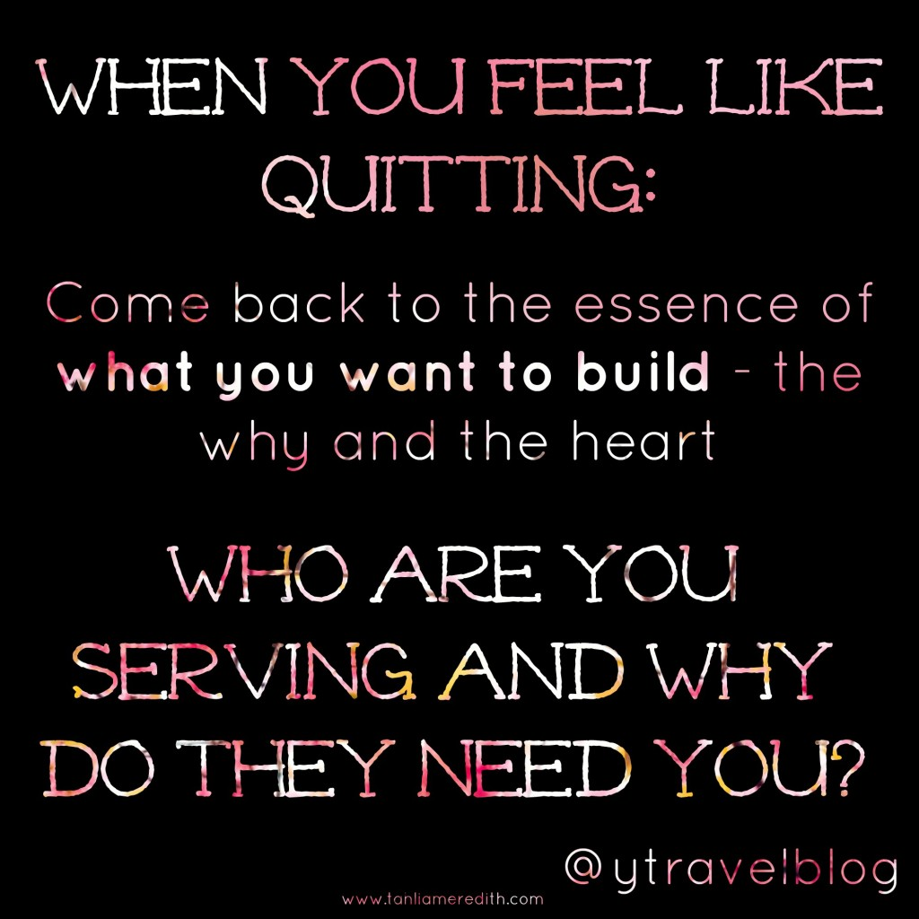 Blogging tip - When you feel like quitting