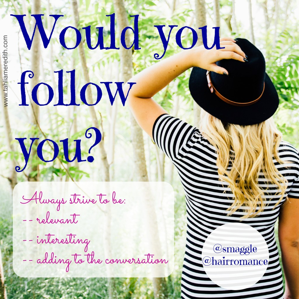 Blogging tip - would you follow you?