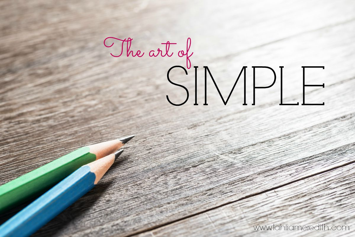 How do you create simplicity?